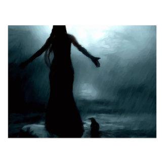 Krähenraben-Regenwasser der keltischen Göttin Postkarte