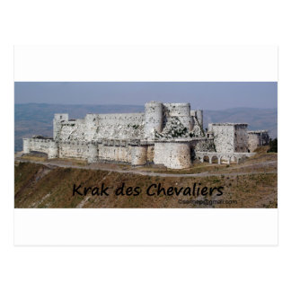 Krak DES-Ritter, ein Kreuzfahrer-Schloss Postkarte