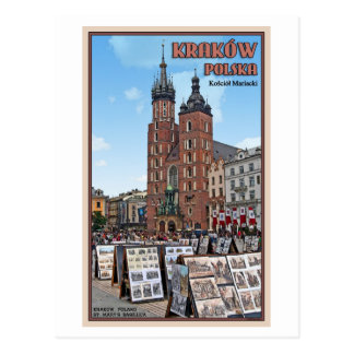Krakau - Basilika St. Marys Postkarte