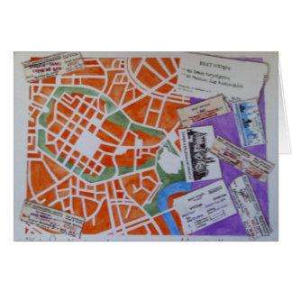 Krakau-Kartengrußkarte Karte