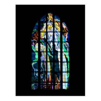 Krakau-Kirche von St- FrancisBuntglas Postkarte
