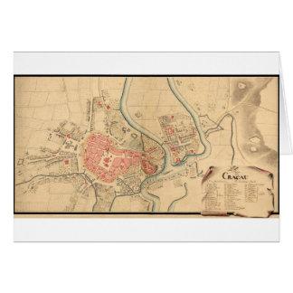 Krakau Polen 1755 Karte