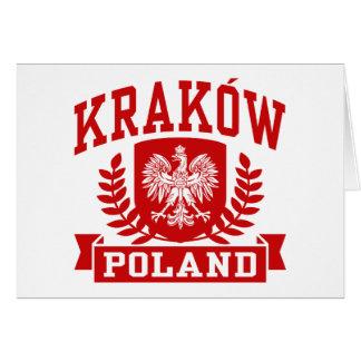 Krakau Polen Karte