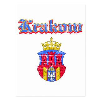Krakau-Stadt-Entwürfe Postkarte
