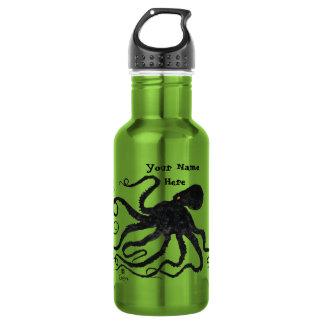 Krake 6 auf apfelgrünem - 18 Unze. Wasser-Flasche Trinkflasche