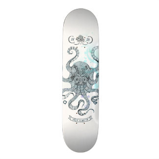 Krake - Salz-Verein 76 - unten durch das Meer 18,4 Cm Mini Skateboard Deck