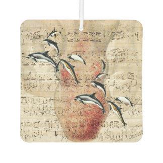 Krake und Delphin-Collage Autolufterfrischer
