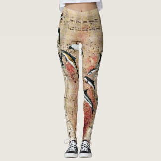 Krake und Delphin-Collage Leggings