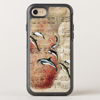 Krake und Delphin-Collage OtterBox Symmetry iPhone 8/7 Hülle