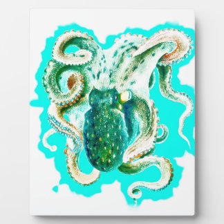 Krakeaquamariner Watercolor Fotoplatte