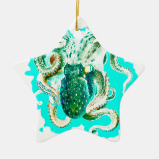 Krakeaquamariner Watercolor Keramik Ornament