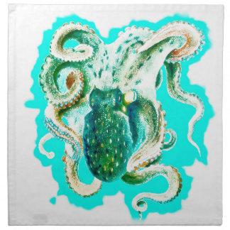 Krakeaquamariner Watercolor Stoffserviette