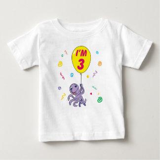 Kraken-3. Geburtstag Baby T-shirt