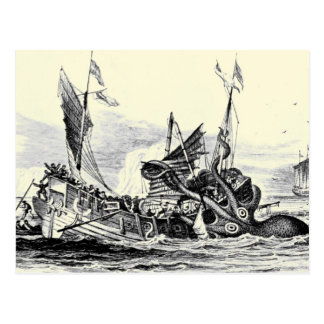 Kraken Angriff! Postkarte