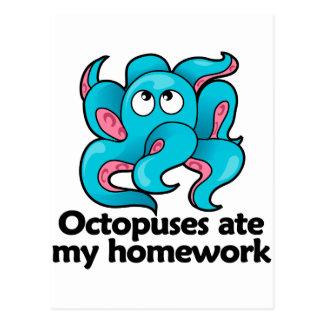 Kraken aßen meine Hausaufgaben Postkarte