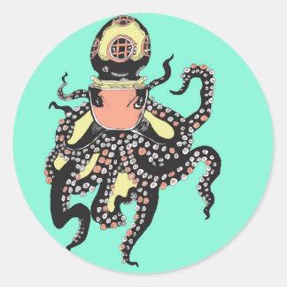 Kraken-Aufkleber Runder Aufkleber