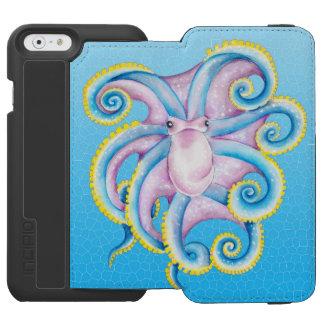 Kraken-Buntglas-Blau Incipio Watson™ iPhone 6 Geldbörsen Hülle