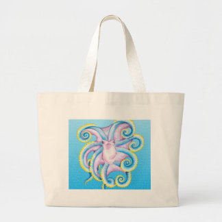 Kraken-Buntglas Jumbo Stoffbeutel