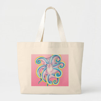 Kraken-Buntglas-Rosa Jumbo Stoffbeutel
