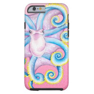 Kraken-Buntglas-Rosa Tough iPhone 6 Hülle
