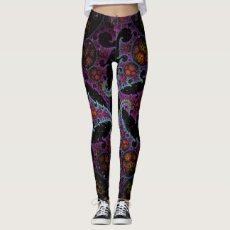 Kraken-Garten-Fraktal Design Leggings