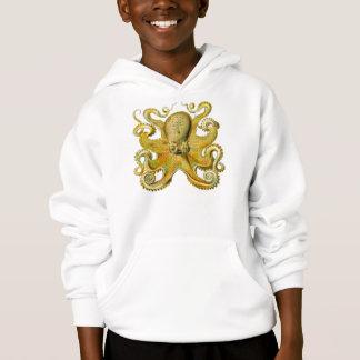 Kraken-Gelb Hoodie