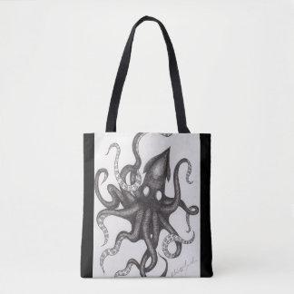 Kraken Tinten-Entwurfs-Taschen-Tasche Tasche