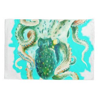 KrakeWatercolor aquamarin Kissen Bezug
