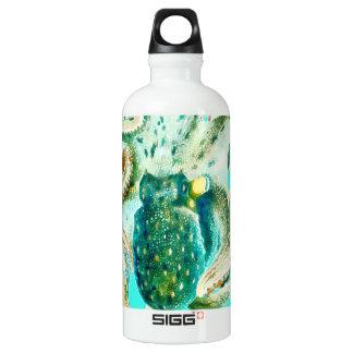 KrakeWatercolor aquamarin Wasserflasche