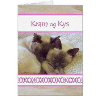 Kram og Kys, Kuss und Umarmung auf Dänische Karte