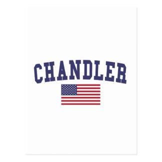 Krämer US-Flagge Postkarte