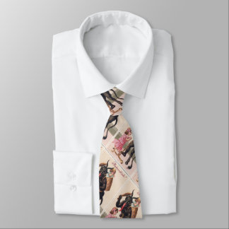Krampus, das Mädchen-Vintages Personalisierte Krawatte
