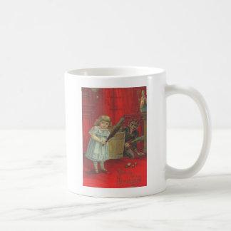 Krampus, das mit Mädchen spielt Kaffeetasse