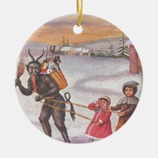 Krampus das Spielwaren u Kinder stiehlt Weihnachtsornament