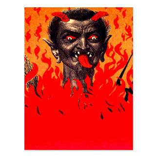 Krampus, das von der Hölle auftaucht Postkarte