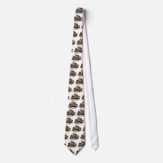 Krampus jagt Kind Bedruckte Krawatten