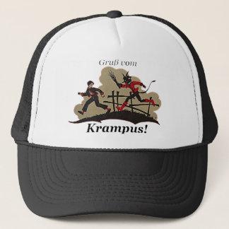 Krampus jagt Kind Truckerkappe
