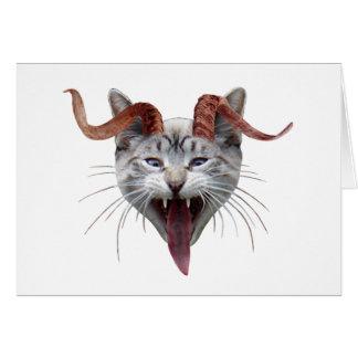Krampus Katze Karte