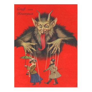 Krampus Puppeteering Erwachsene Postkarten