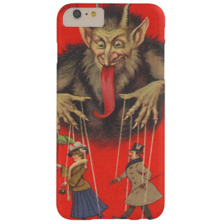 Krampus rote Puppenspieler-Marionetten-Zunge Barely There iPhone 6 Plus Hülle