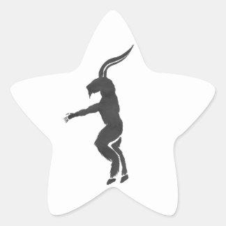 Krampus Stern-Aufkleber