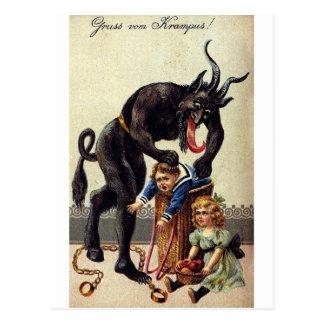 Krampus u. seins Sack 2 Postkarte