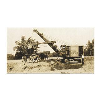 Kran-Betreiber-schwere Ausrüstungs-Nordwestantike Leinwanddruck