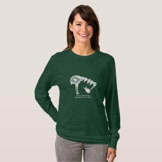 Kran, der Fische - Mimbres Tonwaren-Entwurf isst T-Shirt