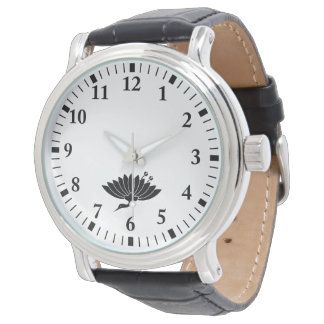Kran-förmige Chrysantheme Armbanduhr