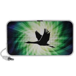 Kran Vogel-Fliegen Cool iPod Speaker