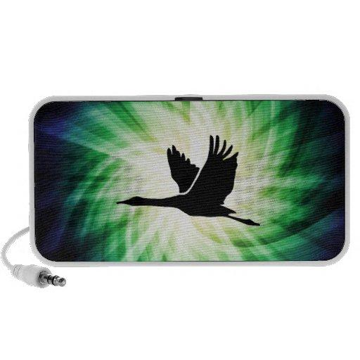 Kran; Vogel-Fliegen; Cool iPod Speaker