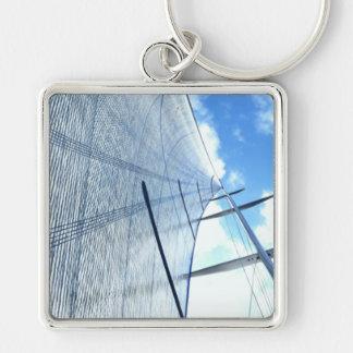 Kranbalken-Segel und Mast-Bild Schlüsselanhänger