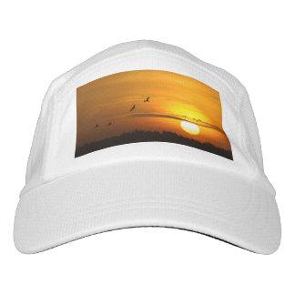 Kräne am Sonnenaufgang Headsweats Kappe