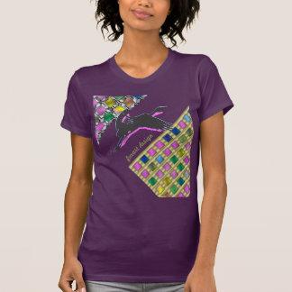 Kranich Paar Karo T-Shirt